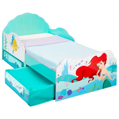 Disney Princess Ariel Kids Toddler Bed with Storage