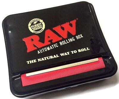 GENUINE RAW METAL AUTOMATIC CIGARETTE ROLLING 70mm MACHINE STRONG TOBACCO TIN