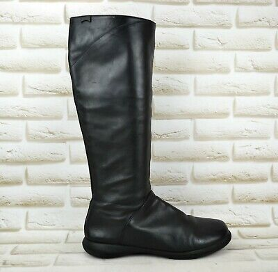 on sale best online in stock CAMPER WOMENS BLACK Leather Knee High Long Boots Shoes Zip ...