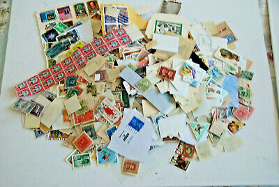 Large amount of world stamps mostly off paper unchecked as scan (301x)