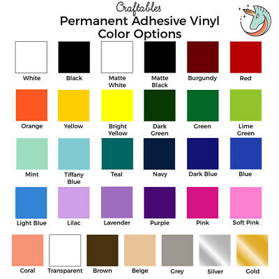 "Craftables Adhesive Vinyl Sheet 12"" x 12"" Permanent Craft Outdoor for Cricut"