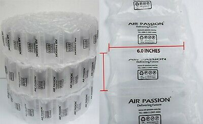 150 Count Air Pillows 6X6 inch Packing Packaging Shipping Cushioning 40 Gallons