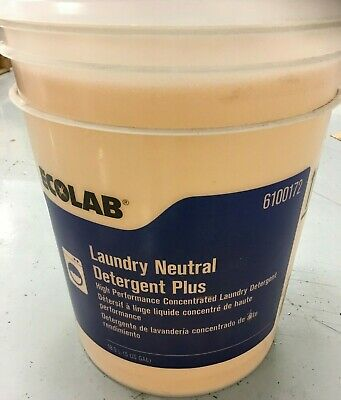 Ecolab 6100172 Neutral Laundry Detergent, 5 gal Pail, Faint, Colorless to Light