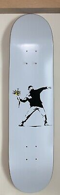 Banksy Skate Board Flower Thrower Love Is In The Air Limited Edition 200ex signe