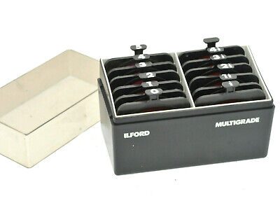 Ilford Multigrade Filter Set of 12 filters - Great condition - In Case