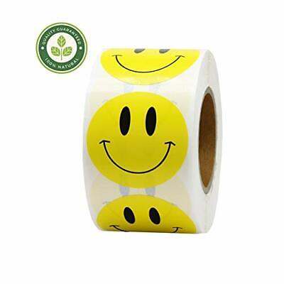 Hcode 1.5 inch Smiley Face Stickers Roll Happy Face Stickers Circle Dots Paper L