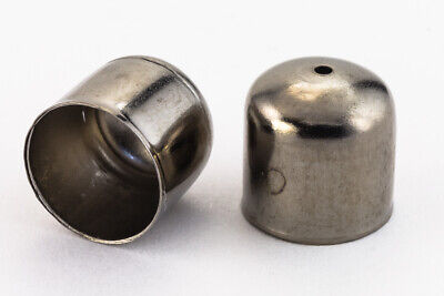 10mm Gunmetal Smooth Rounded Bead Cone #COC001