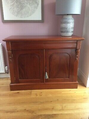 victorian,antique,small,mahogany,chiffonair,sideboard,drawers,cupboard,cabinet