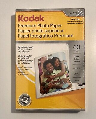 Kodak Premium Photo Paper, 60 Sheets, New In Box. FREE SHIPPING