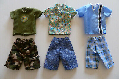 Barbie Ken Doll Clothes - 6 item lot - Free Shipping