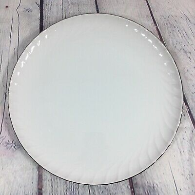 "Norleans China ESTATE White Round Chop Plate Platter Tray - 12.25"" Made in Japan"