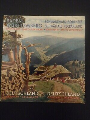 Black Forest Travel Guide 1950s Text is in German, English & French