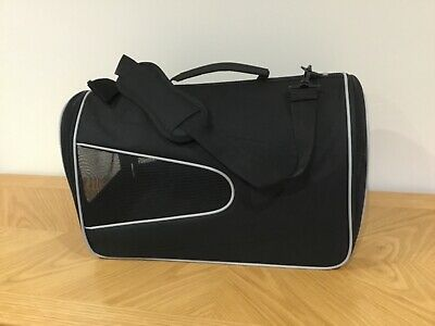 Pet Carrier, New, Black, Fabric
