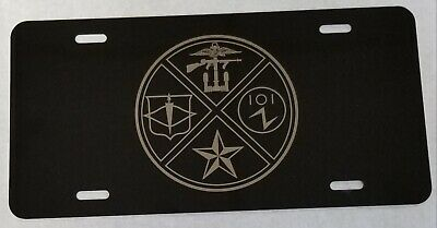 CIA Central Intelligence Agency SOG Special Ops Grp OSS License Plate Insert