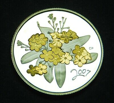 2005 50¢ proof - gold plated silver - Forget-me-not - from Golden Flowers series