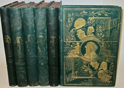 Works of CHARLES DICKENS!Complete 6 Massive Volumes Books Illustrated RARE! gift