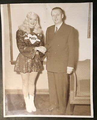 MARY HARTLINE & Illinois Governor Stratton,1950's, Chicago, Autographed