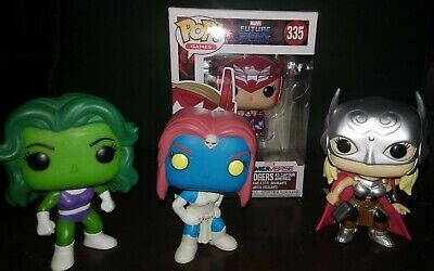 Funko Pop Marvel Ladies Lot Of 4
