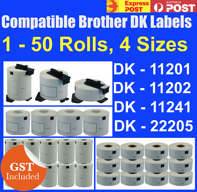 Compatible Brother DK-11201 DK-11202 DK-11241 DK-22205 Address Labels QL570 700