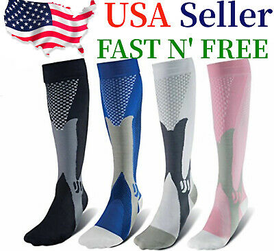 Compression Socks 20-30mmHg Support Miracle Calf Leg Sport Men Women (S~XXL)