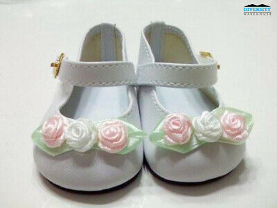 DRESS MY DOLL Shoes Rose Toed White