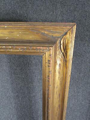 ANTIQUE HAND CARVED PAINTING FRAME, WESTERN or TAOS DESIGN, FITS 27.5X20 INCHES
