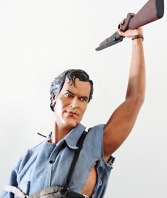 Sideshow The Evil Dead Army Of Darkness Ash Pf Figure Statue Bust Cult Classic