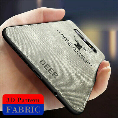 Hybrid Soft TPU Leather Matte Back Cover For Samsung Galaxy S10 Plus S10e Case