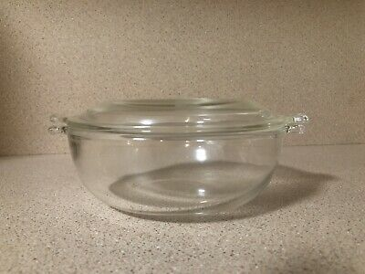 Vintage Pyrex 20 Oz Clear Glass Casserole Baking Dish With Pyrex Lid #019