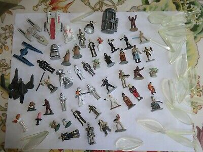 Star Wars Micro Machines mini figures lot 50+ items ships & handful stands RARES