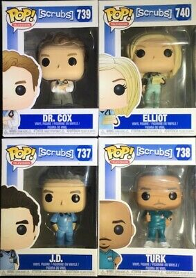 """New Pop """"Tv"""", From """"Scrubs"""", The Set Of All 4, Jd, Turk, Dr. Cox, & Elliot"""
