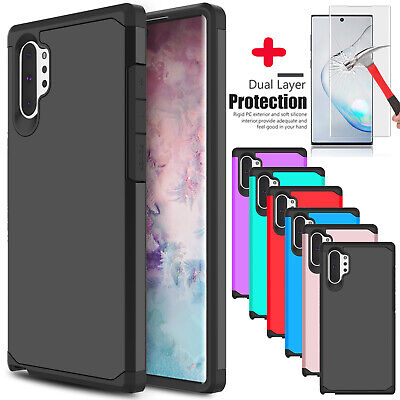 For Samsung Galaxy Note 10 Plus/10+ 5G Phone Case Armor + Full Screen Protector