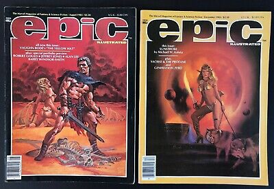Epic magazine 1983 lot: August & December great condition sci-fi comics