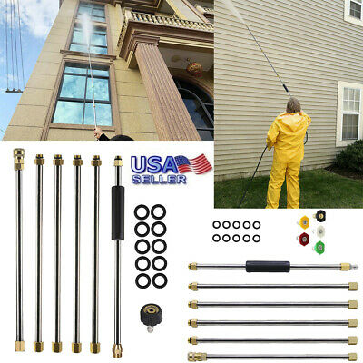Pressure Washer Extension Wand, 90 Inch Power Washer Lance w/5 Spray Nozzle Tips