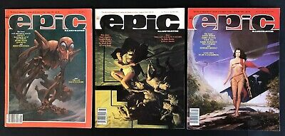 Epic magazine 1985 lot: June, August & October great condition sci-fi comics