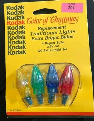 VINTAGE NOS 36 Kodak Replacement Christmas Bulbs K76100