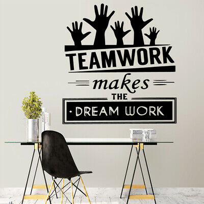 New Teamwork Quote Wall Sticker Decor For office Rooms Decoration Accessories