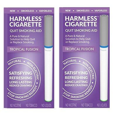 Harmless Cigarette Natural Stop Smoking Aid Satisfying Tropical Fusion 2 Pack
