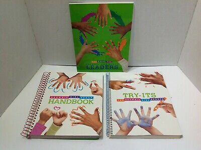 Brownie Girl Scouts Lot Of 3 Books -Handbook, Try-Its And The Guide For Leaders