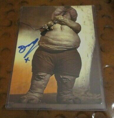Deep Roy as Droopy McCool Star Wars Return of the Jedi signed autographed photo