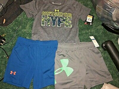 Boys Under Armour 18-24 Months Can't Stop Hype + misc Shorts LOT NEW 3 items