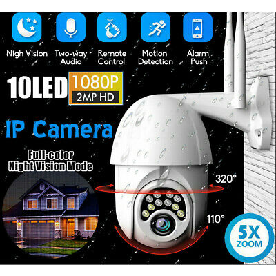 5X Zoom 1080P HD IP CCTV Camera Waterproof WiFi PTZ Security Wireless 2MP IR Cam