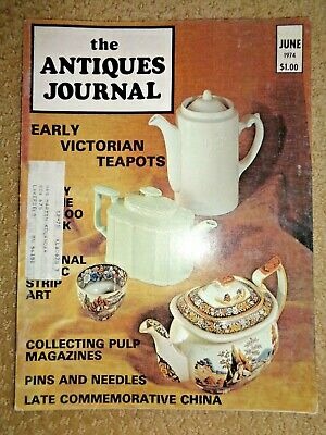 Antiques Journal 1974 Stevens & Williams Glass Moor Lane Glassworks Comic Strips