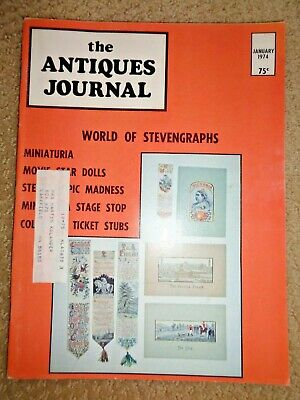 Antiques Journal 1974 Agate of Tiberius Stereoscopic Cards Thorne Miniatures Art