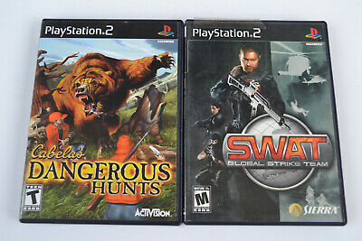 Cabela's Dangerous Hunts + SWAT: Global Strike Team (Sony Playstation 2)