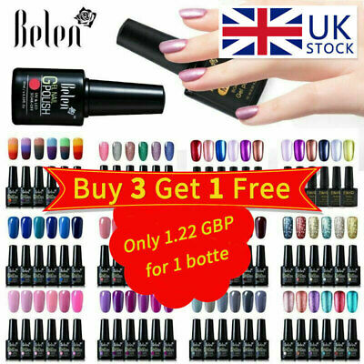 Belen 6 Colors Set Soak Off UV Gel Nail Polish UV LED Top Base Manicure Lacquer