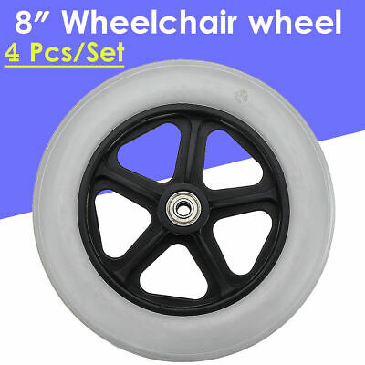 4pcs 8'' Replacement Parts Solid Front Rear Wheel for Wheelchair