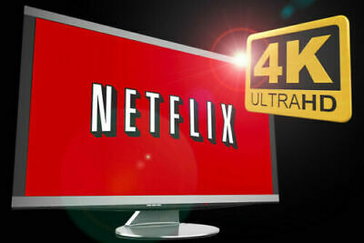 Netflix Gift & Warranty: 4K UltraHD | 4 Screens | 1 Month | 100% Private
