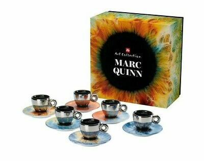 ILLY LIMITED EDITION ART COLLECTION 6 Espresso Cups by Marc Quinn