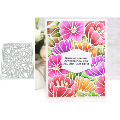 Flower Background Cutting Dies DIY Scrapbook Emboss Paper Cards Craft Stencil*